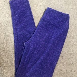 LuLaRoe Purple Leggings